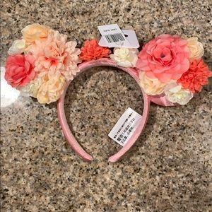 Disney Parks Flower Themed Mickey Ears